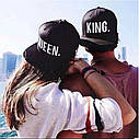 Комплект кепка снепбек King & Queen (Король і Королева) з прямим козирком для двох, фото 8