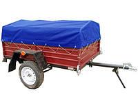 ✅Тент на легковой прицеп 200 х 120 см РЮКЗАК (синий)