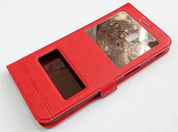 Чехол книжка с окошками momax для Samsung Galaxy J6 Plus J610 (2018) красный