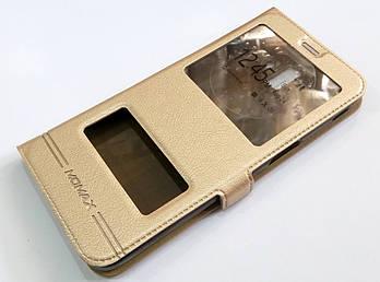 Чехол книжка с окошками momax для Samsung Galaxy J6 Plus J610 (2018) золотой