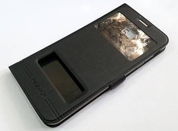 Чехол книжка с окошками momax для Samsung Galaxy J4 Plus J415 (2018) черный