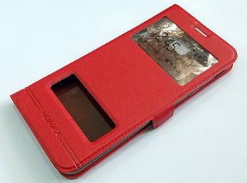 Чехол книжка с окошками momax для Samsung Galaxy J4 Plus J415 (2018) красный
