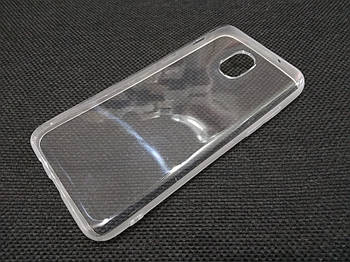 Чехол для Samsung Galaxy J3 (2018) силиконовый прозрачный с матовым ободком