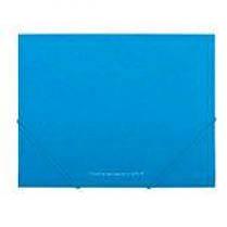 Папка на резинках А5 BUROMAX 3902-14 пластиковая Barocco голубая (1)