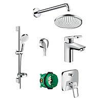 Набор смесителей для ванны Hansgrohe Logis Loop 1122019 скрытого монтажа 71151000+26553400+71264000+01800180+27454000+27413000+26723000