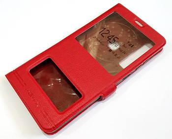 Чехол книжка с окошками momax для Samsung Galaxy A9 A920 (2018) красный