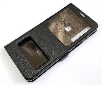 Чехол книжка с окошками momax для Samsung Galaxy A9 A920 (2018) черный