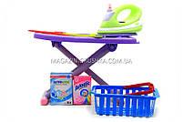 Детский игровой набор «Прачечная» (утюг, гладильная доска, корзина) 6960A, фото 3