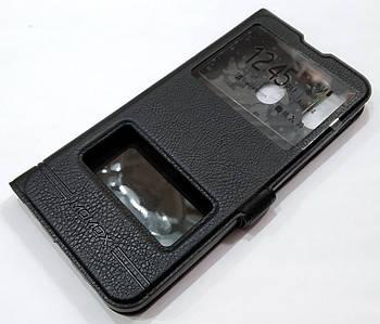 Чехол книжка с окошками momax для Samsung Galaxy M20 M205F черный