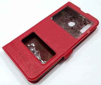 Чехол книжка с окошками momax для Samsung Galaxy M20 M205F красный