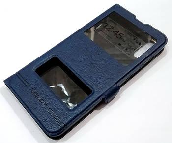 Чехол книжка с окошками momax для Samsung Galaxy M10 M105F синий