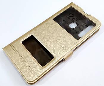 Чехол книжка с окошками momax для Samsung Galaxy A30 A305F золотой