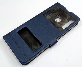 Чехол книжка с окошками momax для Samsung Galaxy A30 A305F Синий