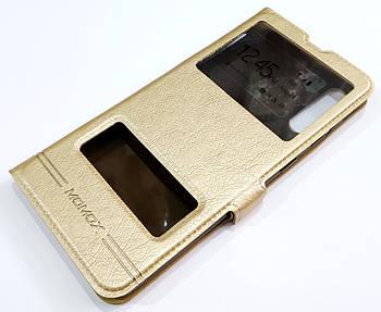 Чехол книжка с окошками momax для Samsung Galaxy A50 SM-A505F/DS золотой