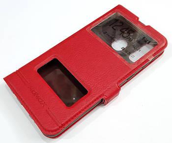Чехол книжка с окошками momax для Samsung Galaxy A40 A405F Красный