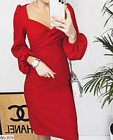 Платье футляр женское стильное вечернее размеры 42 44 46 48 новинка 2019 много цветов