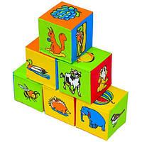 """Набор мягких кубиков 6 штук """"Живой мир"""" Умная игрушка"""