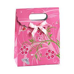 Сумочка подарочная Gift Bag Velcro Ренокюль 16.5х12.5х6 см Розовый 13243, КОД: 1347543