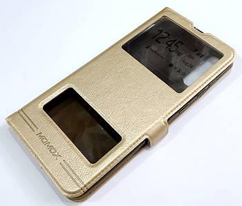 Чехол книжка с окошками momax для Samsung Galaxy A70 A705F золотой