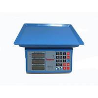 Торговые электронные весы до 40кг Спартак 206 Blue, фото 1