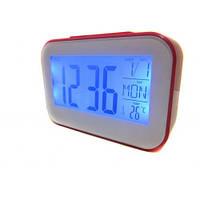 Часы будильник термометр календарь 2620 Pink, фото 1