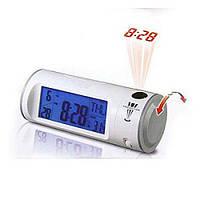 Часы с проектором будильник термометр, фото 1