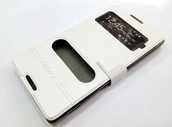 Чехол книжка с окошками momax для Sony Xperia C c2305 s39h белый