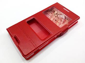 Чехол книжка с окошками momax для Sony Xperia C c2305 s39h красный