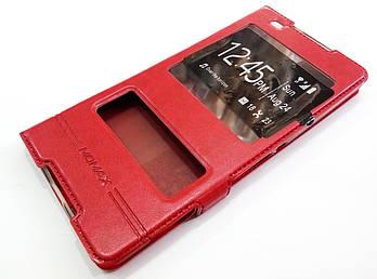 Чехол книжка с окошками momax для Sony Xperia C5 Ultra E5553, E5506, E5533, E5563 красный