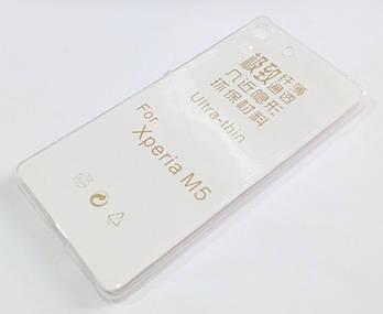 Чехол для Sony Xperia M5 e5633 силиконовый ультратонкий прозрачный