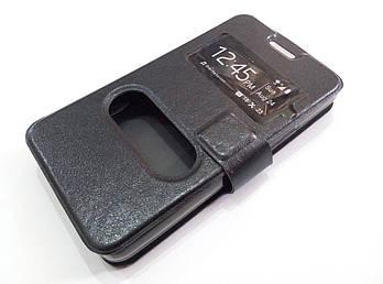 Чехол книжка с окошками momax для Sony Xperia E1 d2005 / E1 dual d2105 черный
