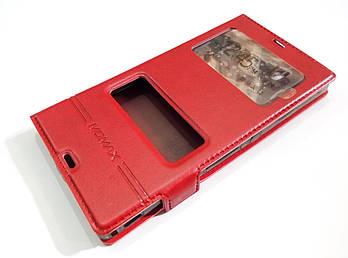 Чехол книжка с окошками momax для Sony Xperia Z c6602 / c6603 l36h красный