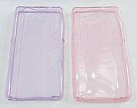 Чехол для Sony Xperia Z1 Compact D5503 силиконовый ультратонкий прозрачный розовый, фото 2