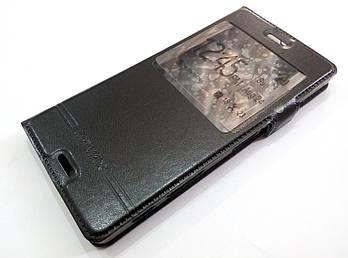 Чехол книжка с окошком для Sony Xperia X dual f5122, f5121 черный