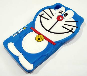 Чехол детский для Sony Xperia XA dual f3111 силиконовый объемный игрушка кот синий