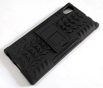 Чехол бампер противоударный бронированный TOTO Dazzle kickstand для Sony Xperia XA1 G3112 черный