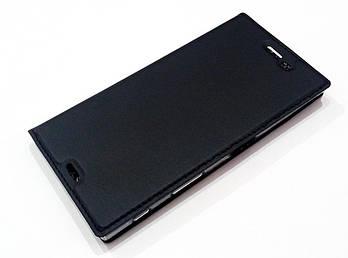 Чехол книжка KiwiS для Sony Xperia XZ f8332 черный
