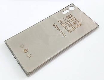 Чехол для Sony Xperia XZ dual F8332 силиконовый ультратонкий прозрачный серый
