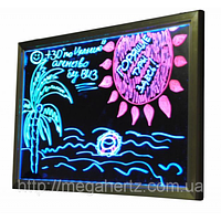 Рекламная светящаяся LED доска 400х300, фото 1