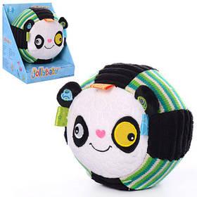 Тварина WLTH8124J-4 панда, 14см, брязкальце, плюш, в кор-ке,15-13,5-17,5 см
