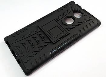 Чехол бампер противоударный бронированный TOTO Dazzle kickstand для Sony Xperia XA2 Ultra h4213 черный