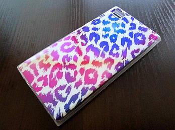 Чехол для Xiaomi Mi 3 силиконовый с рисунком розовый леопард