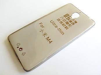 Чехол для Xiaomi Mi 4 (Mi4) силиконовый ультратонкий прозрачный серый