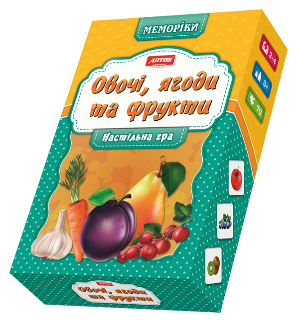 Игра настольная Овощи, фрукты и ягоды