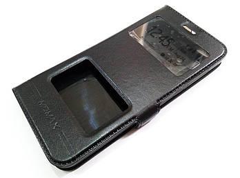 Чехол книжка с окошками Momax для Xiaomi Mi 5c черный