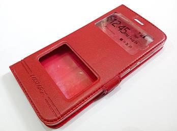 Чехол книжка с окошками Momax для Xiaomi Mi 5c красный