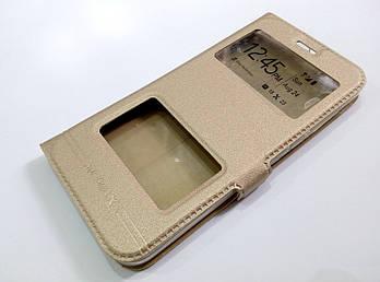 Чехол книжка с окошками Momax для Xiaomi Mi 5c золотой