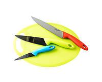 Набор кухонных ножей Giakoma c дощечкой для нарезки 1382, КОД: 168636