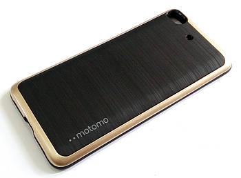 Чехол противоударный Motomo для Xiaomi Mi 5s черный с золотым