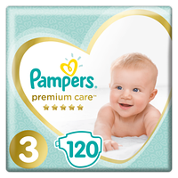 Подгузники Pampers Premium Care 3 (6-10 кг), 120 шт.